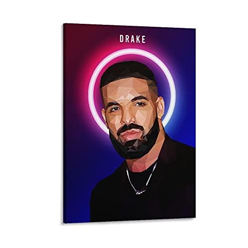 Wangfei Drake Rapper Rapper Wpap Rap Rock Hip Hop DJ Poster Aubrey Drake Grahame Stampa artistica su tela e Wall Art Poster moderno per camera da letto di famiglia 30 x 45 cm