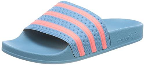 adidas Adilette, Slide Sandal Mujer, Hazy Blue/Hazy Rose/Hazy Blue, 38 EU