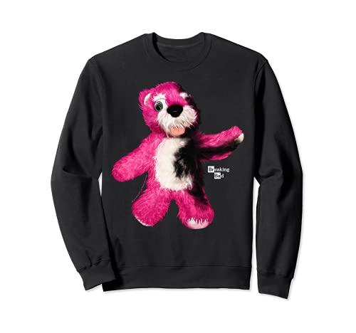 Breaking Bad Burnt Pink Teddy Bear Portrait Logo Felpa