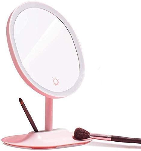 Pkfinrd Maquillaje Mirror Home LED Maquillaje Mirror Light Kit para Maquillaje, Zoom HD Mesa de Maquillaje Mesa de Maquillaje Espejo de baño Escritorio Escritorio Portátil
