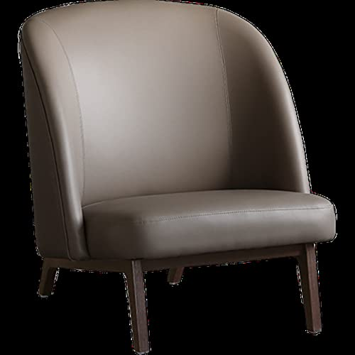 Lwieui Silla de sofá Expresión nórdica Medio Antiguo Antiguo Hermosa DE Cuero DE Cuero DE Cuero DE Cuero Silla DE Lectura Sillones y chaises Longues (Color : Gris, Size : 84x84x75cm)