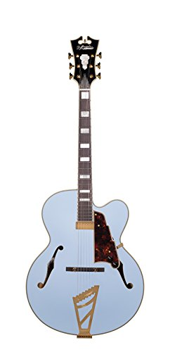 D'Angelico Deluxe EXL-1 Hollow-Body Electric Guitar - Matte Powder Blue