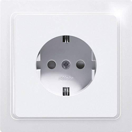 Eltako Schutzkontakt-Steckdose DSS mit Steckdosenoberteil, 1 Stück, reinweiß glänzend, DSS65-WG