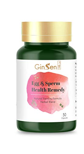 Ginsen Eggs and Sperm Health Supplement, Multi Functional Fertility Enhancer, Increase Quantity and Quality of Sperm and Eggs to Improve Motility, Made in The UK