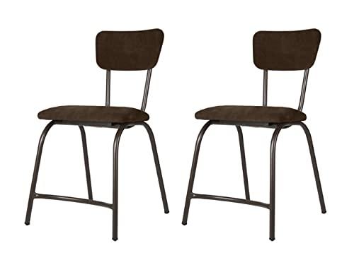 Sillería Aragonesa Silla Tena Pack 2 sillas de Bar Comedor tapizadas Estilo Vintage