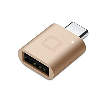 Nonda USB Type C to USB 3.0 Adapter, Thunderbolt 3 to USB Adapter Aluminum with Indicator LED for MacBook Pro 2019/2018, MacBook Air 2018, Pixel 3, Dell XPS and More Type-C Devices (Gold)
