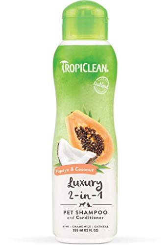 Tropiclean Papaya e Cocco 2-in-1 Shampoo e Balsamo per Animali Domestici, 12 oz, Made in USA