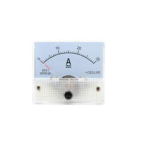 Grifri Professional Analog Current Panel Meter Dc 30a Amperemeter für Stromkreisprüfung Ampere Tester messen weißes