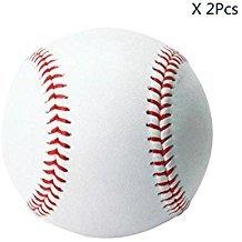 2 bolas de béisbol de cuero de poliuretano para adultos y jóvenes, sin marcas, para entrenar, para competencia y como regalo