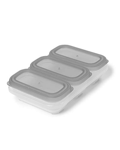 Skip Hop 9H203810 Skip Hop 3er-Pack Easy-Store-Aufbewahrungsbehälter á 118ml, transparent