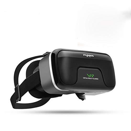Occhiali VR 3D Visore Realtà Virtuale Occhiali Headset Virtual Reality 3D Film Glasses per iPhone Android Smartphones - Nero