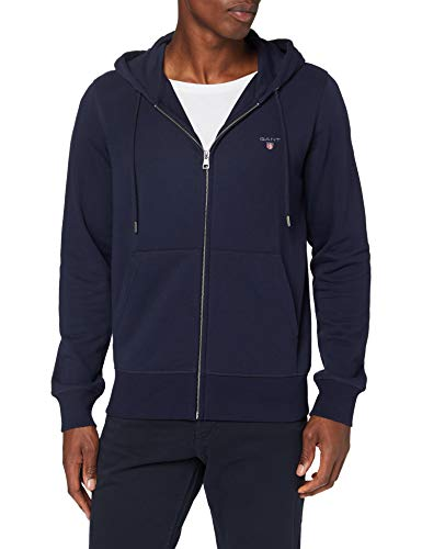 GANT Herren The ORIGINAL Full Zip Hoodie Kapuzenpullover, Blau (Evening Blue 433),...