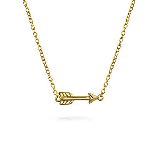 Colgante Cupido Minimalista - Collar Flecha - Chapado En Oro 14K 925
