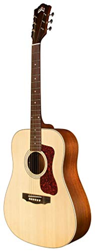 Guild Guitars D-240E Guitarra Acústica, en Natural, Dreadnought Archback Solid Top, Colección Westerly