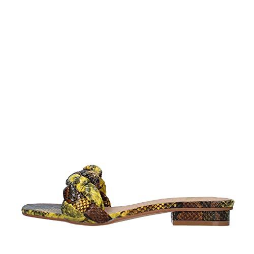Sandalias Planas de Mujer Alma en Pena Color Mostaza. V21BL8506 Snake Yellow - Talla: 41