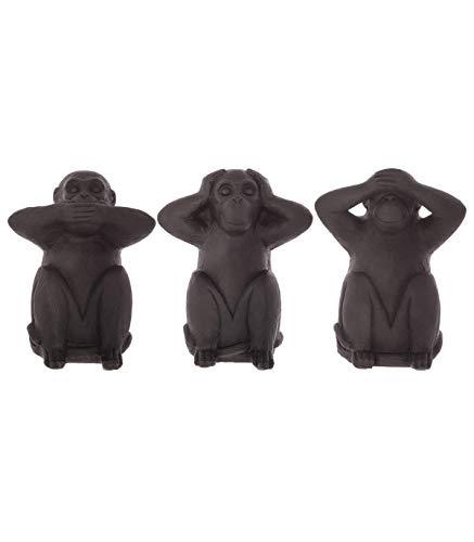 Atmosphera - Lot de 3 singes Sagesse en résine H23