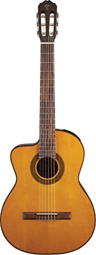 Takamine G Series Lefty GC1CELH-NAT Acoustic-Electric Classical Cutaway Guitar, Natural