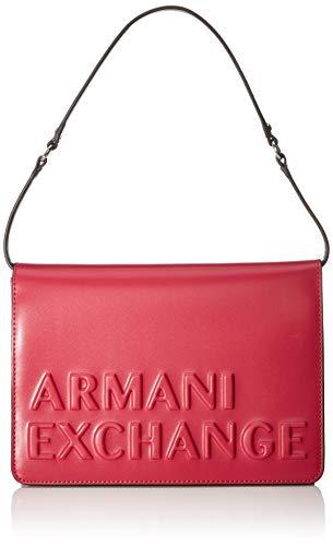 Armani Exchange vrouwen getextureerde logo schoudertas