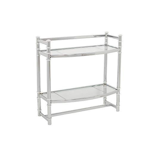 Zenna Home 9012SS, 2-Tier Wall Mount Bathroom Shelf, Chrome/Glass