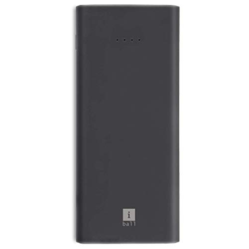 iBall 10000mAh Li-Polymer Slim Design Smart Charge Powerbank – LPS 10000 (Grey)