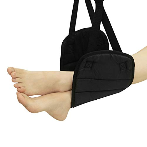 L.H Travel Accessories Travel Foot Hammock for Plane,Portable Travel Accessories Made with Elegant Velvet Liner for Train Car Airplane Foot Rest...