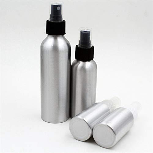 LIYANG Botella De Spray Botella de rociado de Aluminio Perfume Recargable Portátil Contenedor vacío Viaje Pulverizador cosmético Atomizador 30/50/100 / 120ml Botella De Spray Duradera
