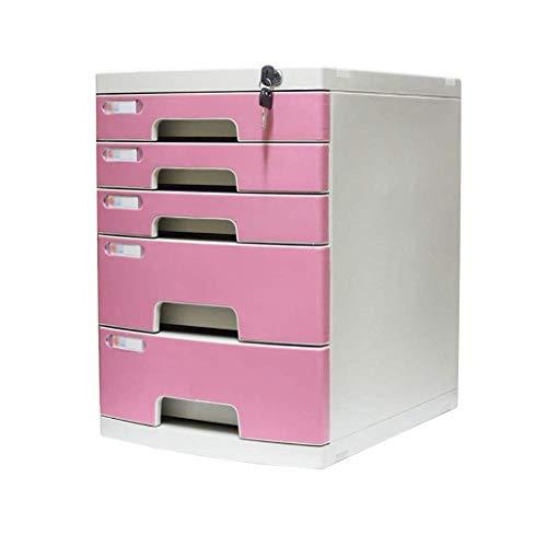 WEI-LUONG Escritorio de almacenamiento expansor, 5 capas de escritorio cajón clasificador con cajón oficina del gabinete de almacenamiento portátil Suministros y ordenado Periódico Bastidores (Tamaño: