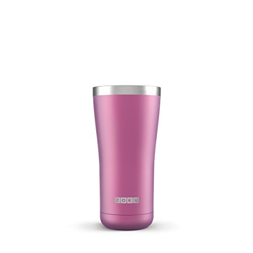 Zoku Stainless Steel Wide Mouth Tumbler; Large 20-Ounce Capacity; Vacuum Insulated Keeps Hot Drinks Hot, Cold Drinks Cold (Metallic Purple)