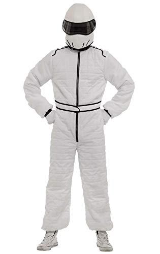 ORION COSTUMES Costume de déguisement combinaison blanche de pilote de course et casque