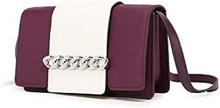 Messenger Bag Female New Women's Bag Casual Wild Shoulder Bag Fashion Small Square Bag Tide (Color : Purple)