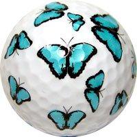 Novelty Golf Balls Blue Butteryfly Single Ball