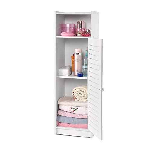 Aimu - Armario de baño impermeable con suelo blanco, muebles de almacenamiento para baño, dormitorio, cocina, pasillo, armario de almacenamiento con capa de uso diario 80 x 20 x 24 cm