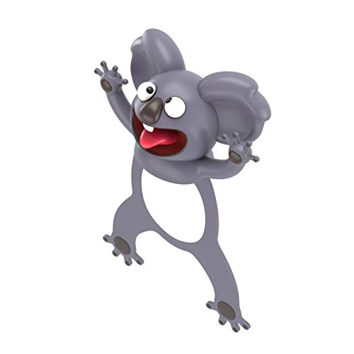3D Cartoon Tier-Lesezeichen,bookmark animal,lesezeichen kinder,lesezeichen magnetisch,3D Stereo Cartoon schön Tier Lesezeichen Geschenk für Kinder und Erwachsene (K)