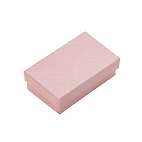32pcs joyería caja 8x5CM anillo collar de caja for la joyería de múltiples colores joyería Cajas de empaquetado del regalo de exhibición del pendiente Negro Esponja gift (Color : Pink)
