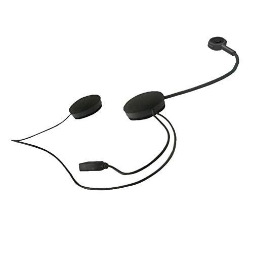 YCX Motorrad Sturzhelm Bluetooth Headsets Funkkopfhörer Motorcycle Zubehör,Bluetooth 4.1 Dual-Stereo Lautsprecher Freihändige Mit Mic Kopfhörer Für Smart Phones,Schwarz