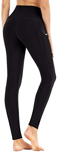 Ewedoos Fleece Lined Leggings with Pockets for Women- Winter Leggings for Women High Waisted Thermal Workout Leggings 2 ❄FLEECE LINING INTERIOR - With buttery soft fleece interior, Our Heat-tech Warm Leggings for Winter will fit you like a second layer of skin and offer you both Comfort & Warmth when temperature drops. Whether you are hitting the gym or lounging at home, these are the great Fleece Leggings for Women that make great Christmas Gifts & Holiday Presents. ❄SQUAT PROOF STRETCHY FABRIC - To ensure maximum comfort and long lasting warmth in winter, Ewedoos Thermal Leggings for Women are designed with a High tech 4-Way Stretchy Material. The Moisture-management fabric will wick your sweat away while retaining heat inside. Whether you're stretching, bending or squatting, our thermal yoga pants will always stay put and provide all the support you need. ❄FUNCTIONAL SIDE POCKETS - Say goodbye to bulky backpack and say hello to our innovative & stylish Yoga Pants. Our Ewedoos Thermal Workout Leggings for Women come with 2 Side Pockets to offer you maximum convenience. Whether you need pockets to keep your phone, house keys or cash, these will be the performance leggings for you.