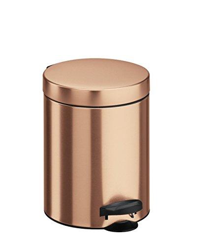 Meliconi 14004704000Abfalleimer Stahlblech mit Eimer, Metall, braun, 18.6x 18.6x 24.1cm