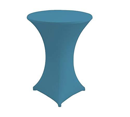 Babat Stehtischhusse Stretch in Farbe türkis und Durchmesser 60-65 für Bistrotisch/Stehtisch