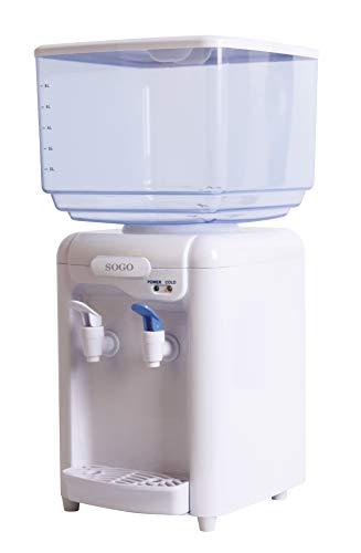Sogo DIS-SS-12010W - Kaltwasserspender mit 7-Liter-Tank Inklusive, 65W, BPA Free, Kaltwassertank, Warmwassertank
