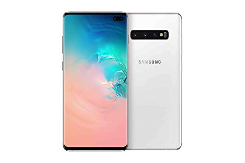 Samsung Galaxy S10+ Smartphone (16.3cm (6.4 Zoll) 512 GB interner Speicher, 8 GB RAM, Dual SIM, Android, Ceramic White) inkl. 36 Monate Herstellergarantie [Exklusiv bei Amazon] Deutsche Version