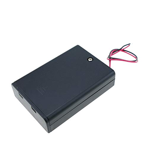 BeMatik - Portapilas en caja para 3 pilas LR6 AA 1.5V con interruptor (EN085)