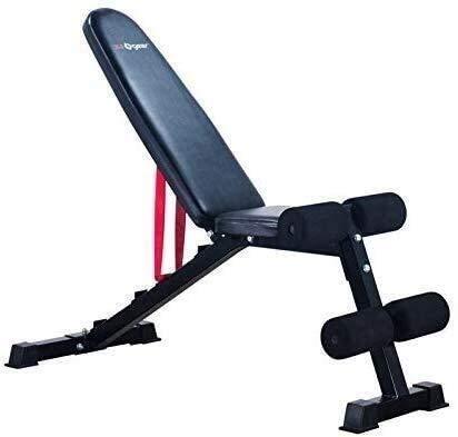 Banco de pesas ajustable para entrenamiento de mesa, banco de prensa, banco abdominal, banco 110 × 52 × 12,6 cm, negro equipo abdominal, piel sintética acero, negro, 110*52*12.6cm