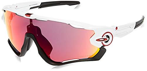 Oakley Unisex-Erwachsene Jawbreaker Sonnenbrille, Weiß (Blanco Brillo), One size