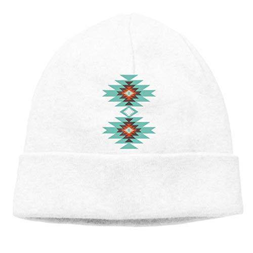Lsjuee Southwest Santa Fe Geometric Tribal Casual Hedging Sombreros Warm Street Sombreros Gorros Gorros de punto