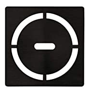 Schluter Kerdi 4インチ角ステンレススチール格子型 ピュアデザイン マットブラック