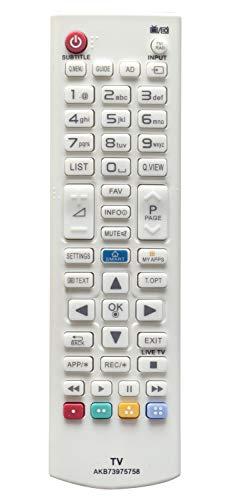 ALLIMITY AKB 73975758 Fernbedienung Ersetzen für LG 3D Smart TV 55LF5800 55LB582V 50LB582V 50LB582V 47LB582V 47LB5820 42LB582V 42LB5820 42LB580V 40UB800V 32LF580V 32LF5800 32LB582V