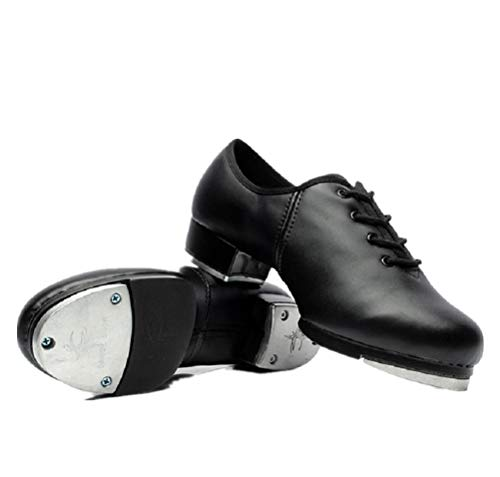 BeiBestCoat Synthetic Tap Shoes Oxford Dancing Shoes for Men Adults  Black (7.5 D (M) US / 39)