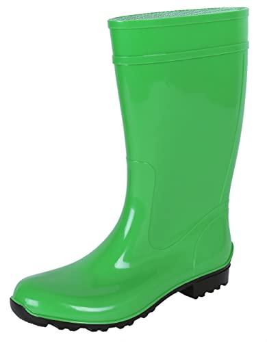 LEMIGO Botas de Agua para Mujer Ilse, Verde Talla:36
