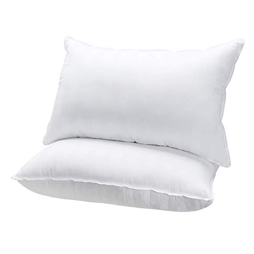 MASVIS Bed Pillow 100% cotton Fabric standard size Hypoallergenic Pillow...