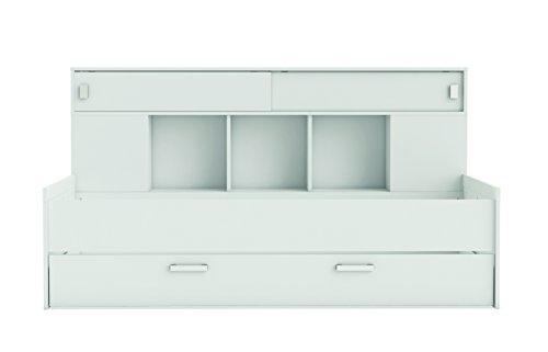 Demeyere 407011 Bettüberbau, Bett mit Bettkasten 90 x 200 cm SHERWOOD, weiß - 4